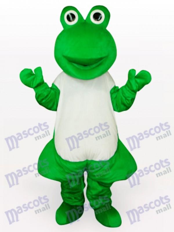 Green Frog Short Plush Adult Mascot Funny Costume