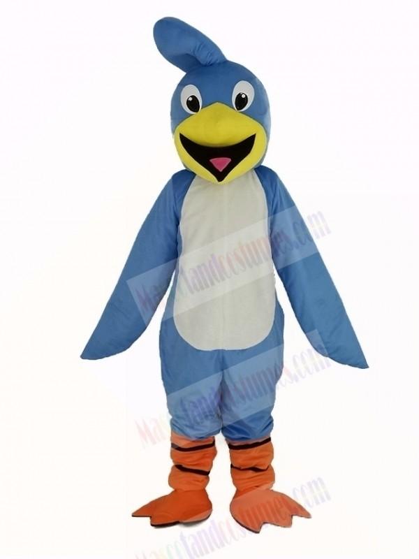 Light Blue Roadrunner Bird Mascot Costume