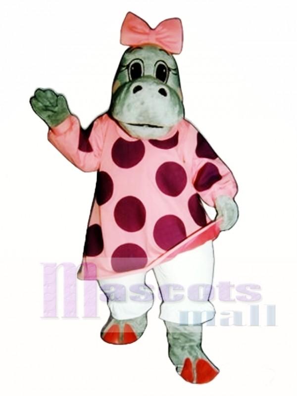 Hilary Hippo Mascot Costume