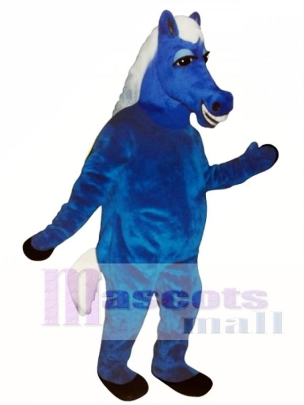 Blue Horace Horse Mascot Costume