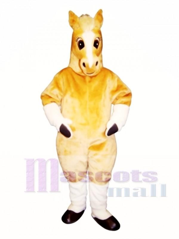 Cute Palomino Horse Mascot Costume