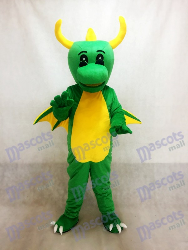 Green Dinosaur Mascot Costume Dragon