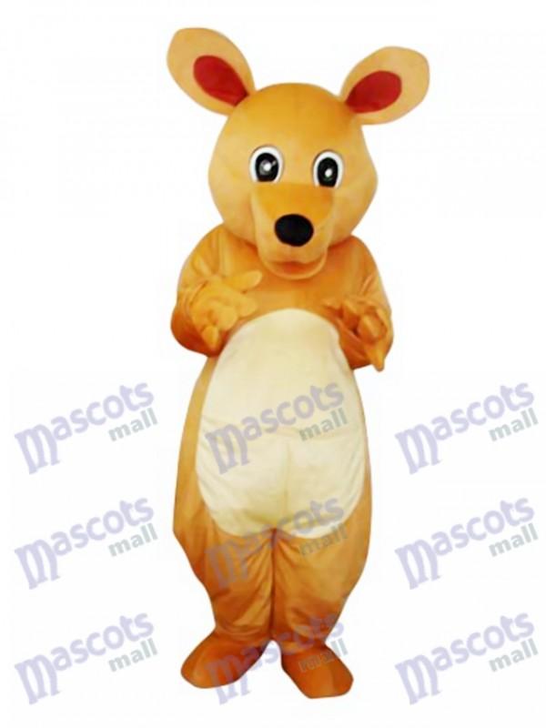 Big Eyes Kangaroo Adult Mascot Costume