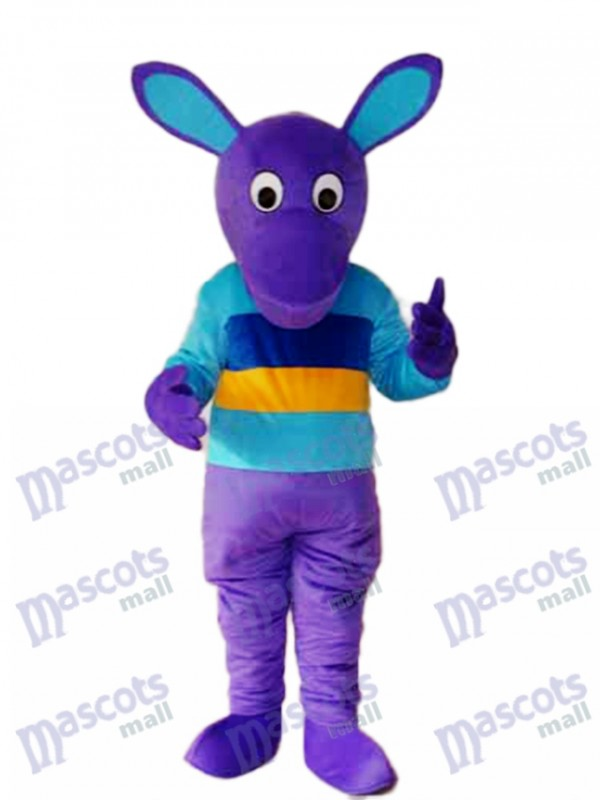 Purple Kangaroo Mascot Adult Costume