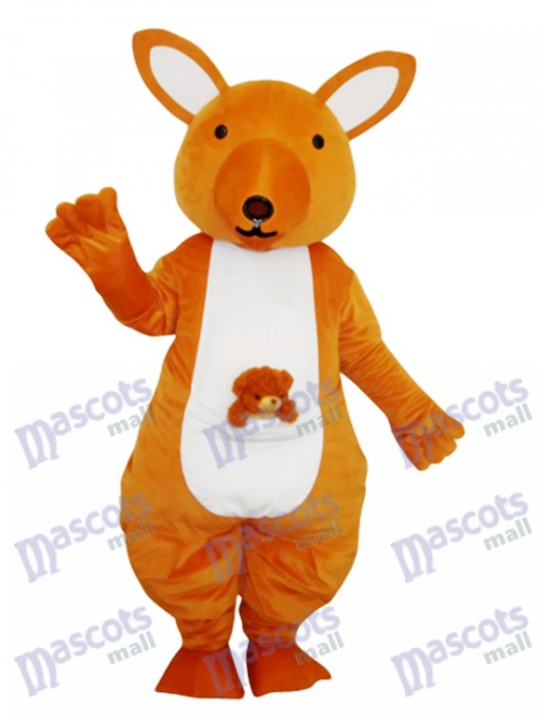 Yellow Kangaroo Mascot Adult Costume