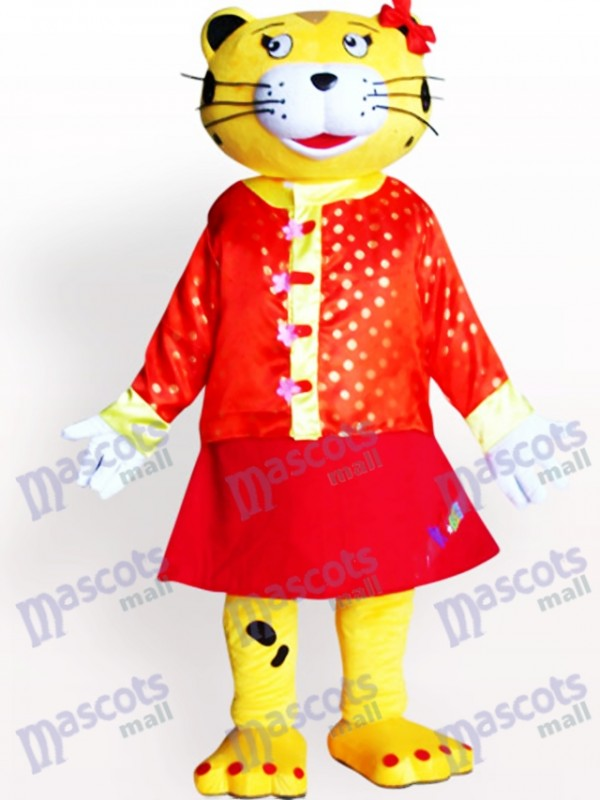 Female Leopard Adult Mascot Costume
