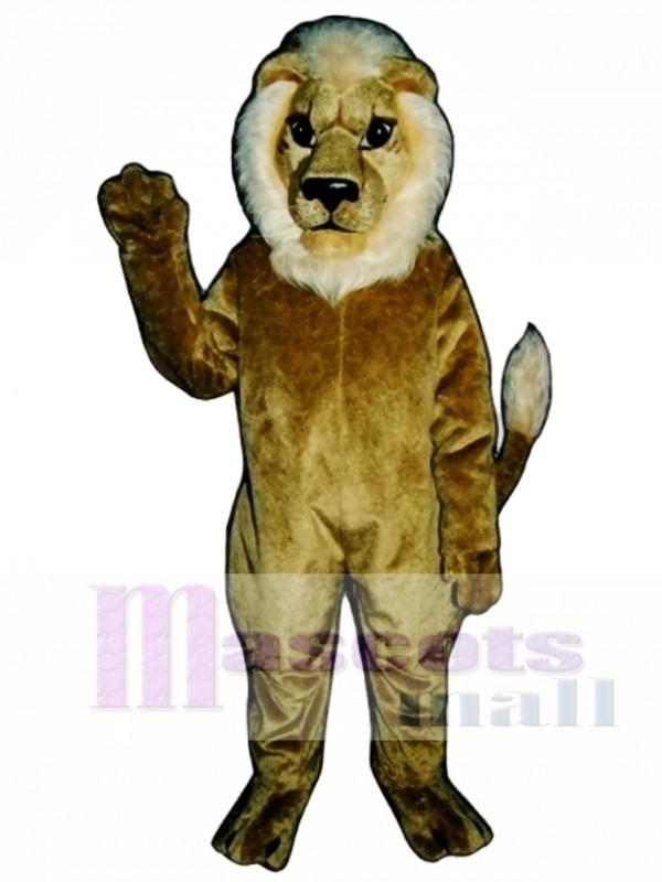 Blonde Lion Mascot Costume