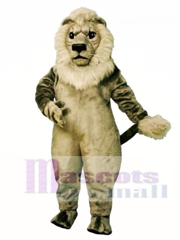 Old Grey Lion Mascot Costume