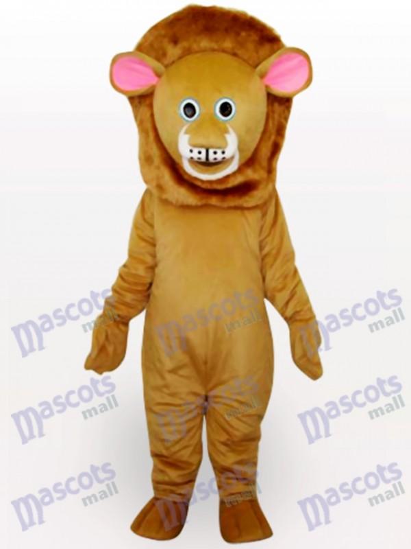 Brown Lion Animal Adult Mascot Costume