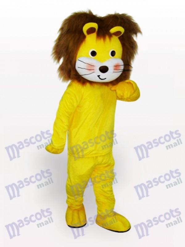 Yellow Lion Animal Mascot Costume