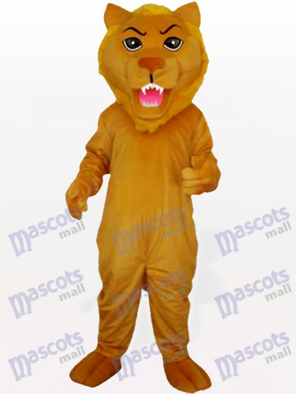 Yellow Push Lion Animal Mascot Costume
