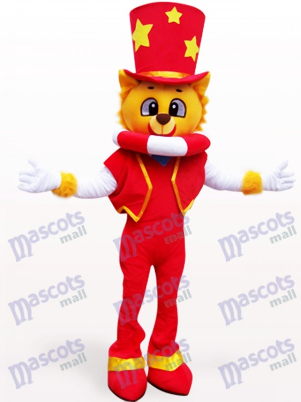 Magician Lion Adult Mascot Costume