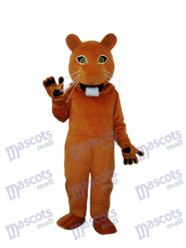 Golden Cougar Mascot Adult Costume
