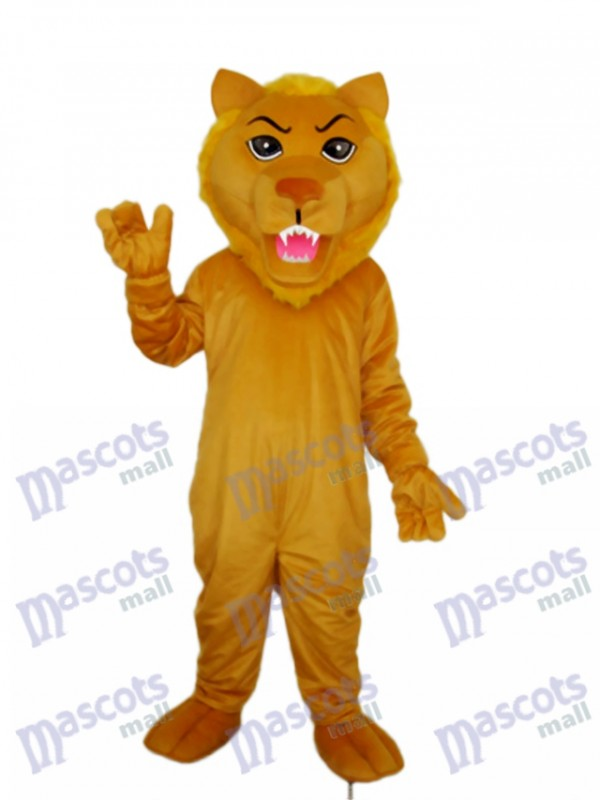 Old Brown Lion Mascot Adult Costume