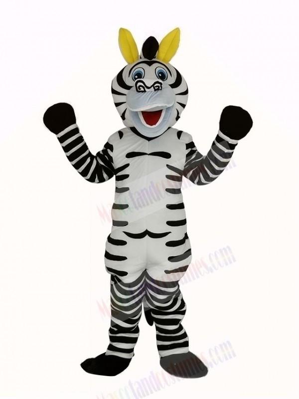 Happy Zebra Mascot Costume Animal