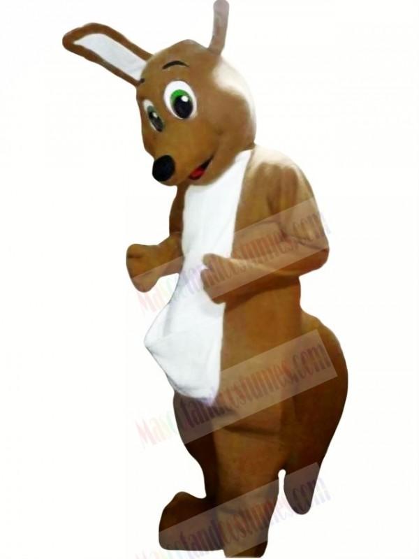 Dark Tan Kangaroo Mascot Costume Adult Costume