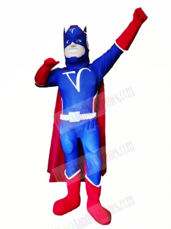 Cool Blue Captain Mascot Costume People