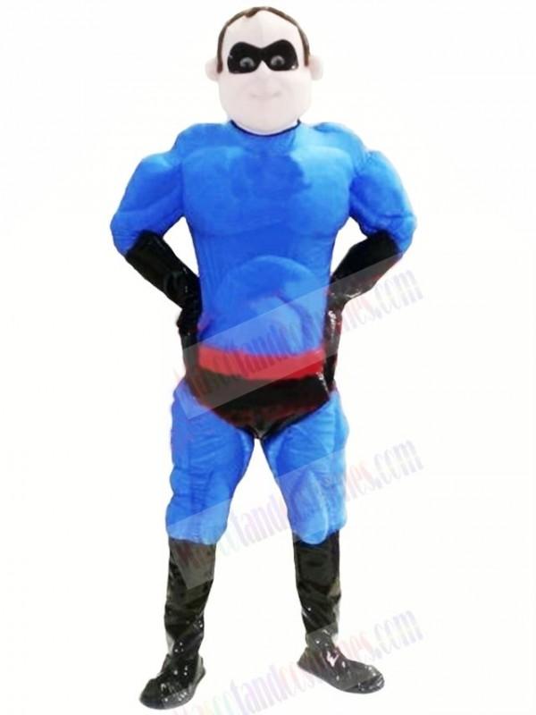 Cool Blue Superman Mascot Costume People