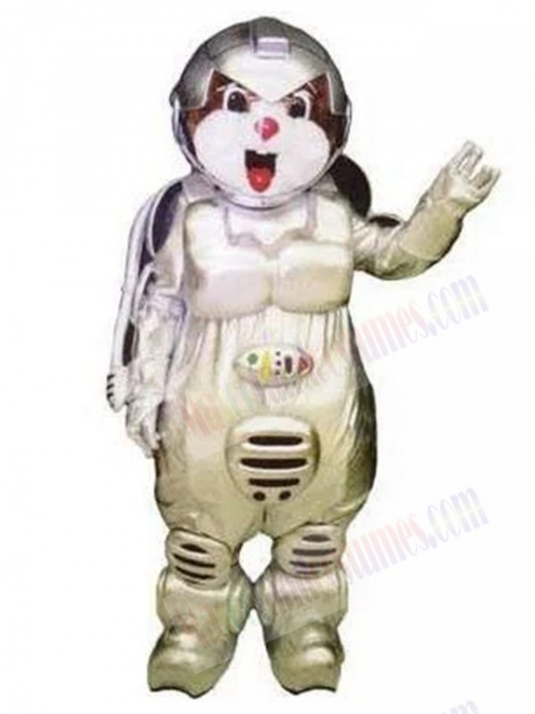 Astronaut Bear mascot costume