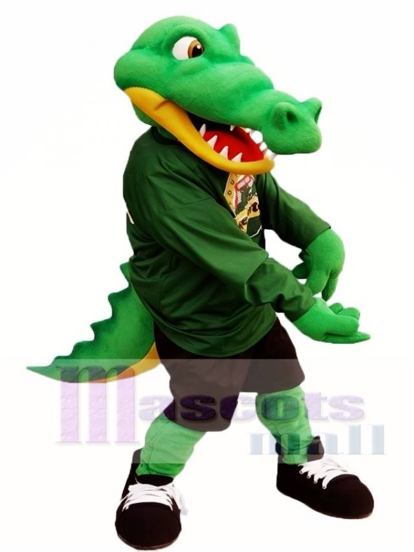 Green Athlete Crocodile Mascot Costume Alligator Mascot Costumes