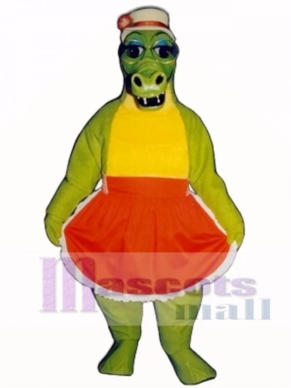 Alligator Bag with Apron & Hat Mascot Costume