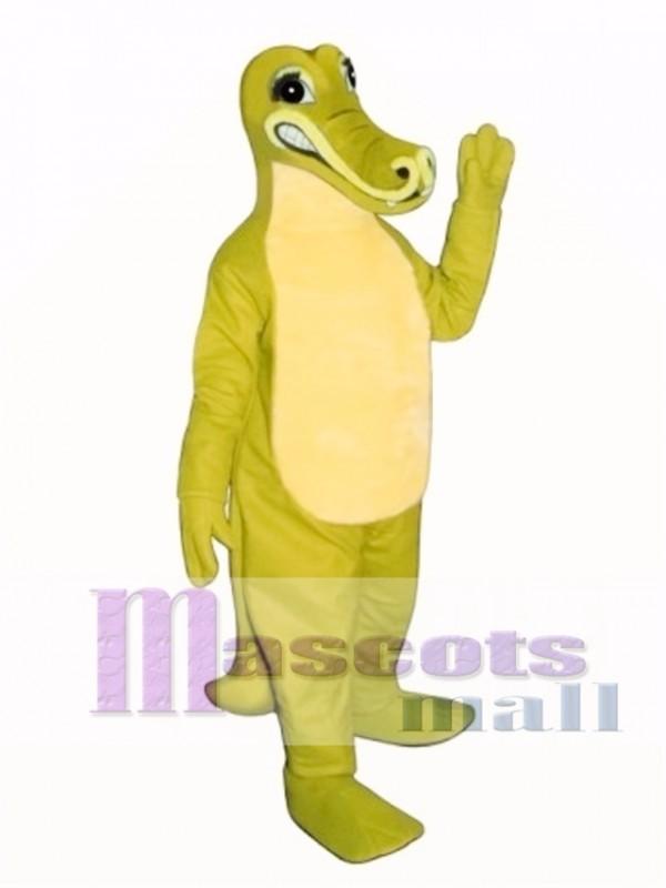 Sneering Crocodile Mascot Costume