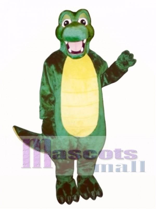 Happy Alligator Mascot Costume