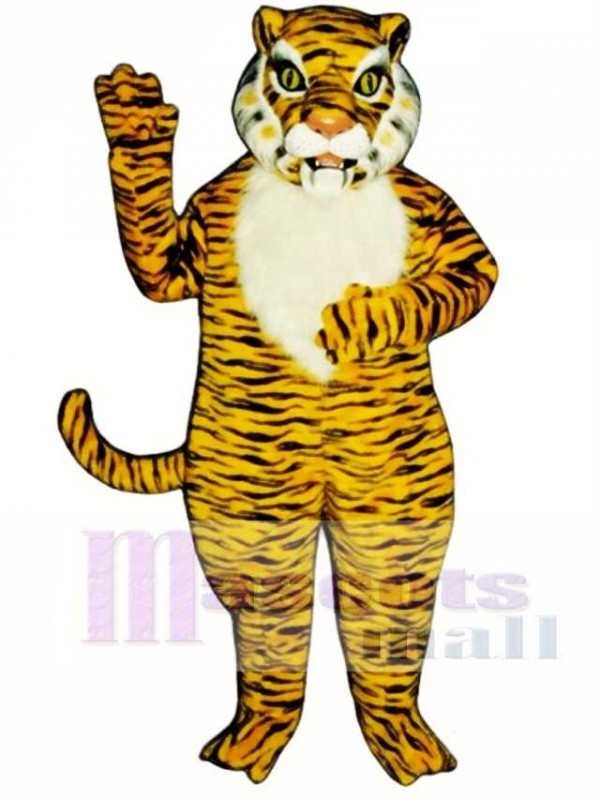 Cute Realistic Tiger Mascot Costume