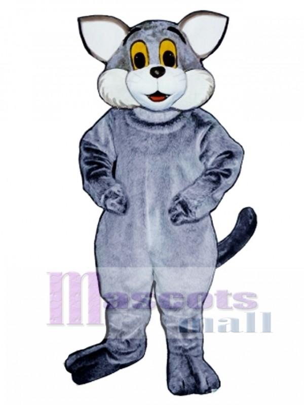 Cute Gray Cat Mascot Costume