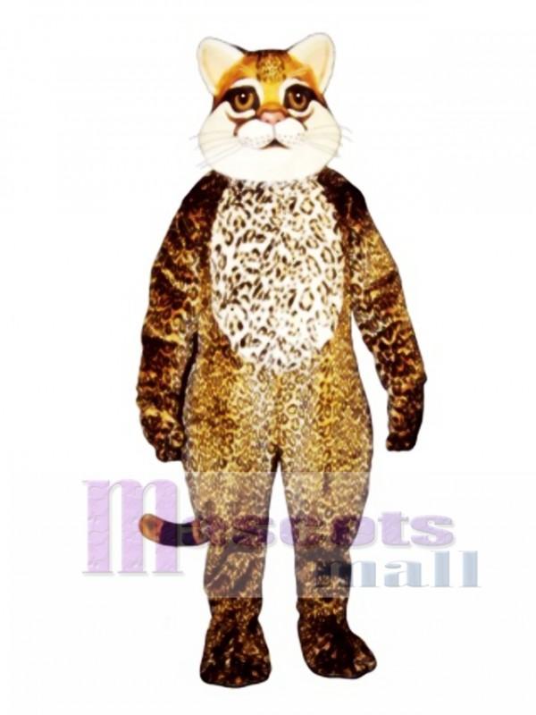 Cute Ocelot Cat Mascot Costume