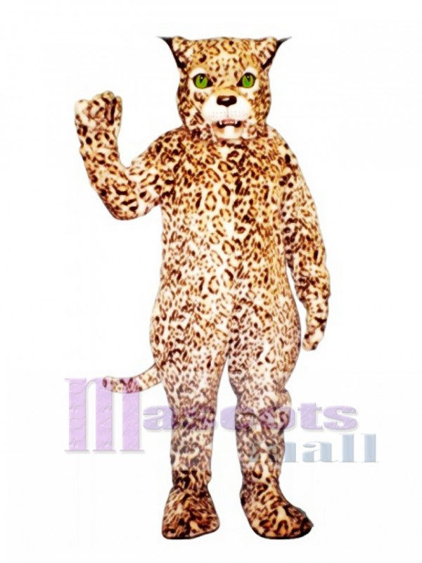 Cute Spotted Lynx Cat Mascot Costume
