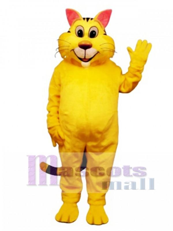 Cute Big Yeller Cat Mascot Costume