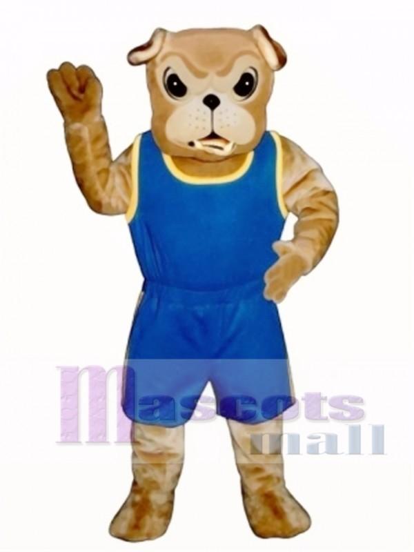 Cute Bulldog with Jogging Suit Mascot Costume