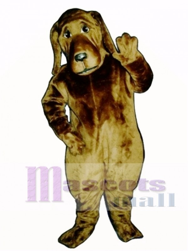 Cute Bloodhound Dog Mascot Costume