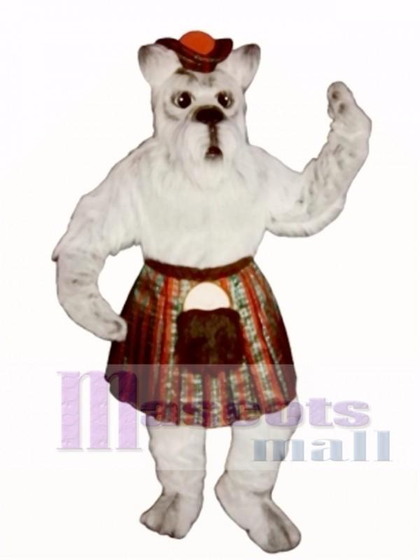 Cute Scottie Dog with Skirt & Tam Mascot Costume