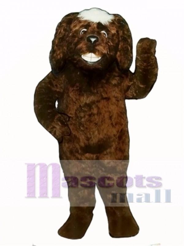 Cute Grinning Dog Mascot Costume