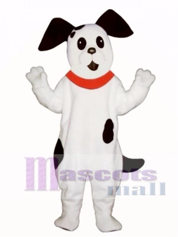 Cute Spot Dog with Collar Mascot Costume