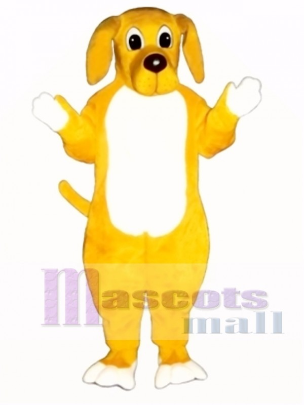 Cute Yellow Hound Dog Mascot Costume