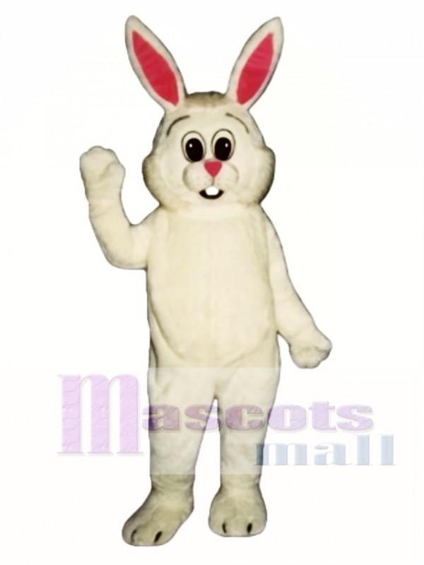 Easter Fat Bunny Rabbit Overalls Mascot Costume