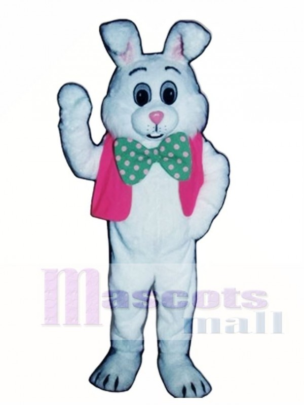Fat Bunny Rabbit with Vest & Bowtie Mascot Costume