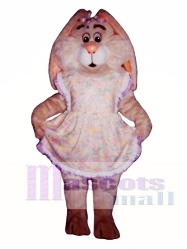 Easter Bunny Rabbit with Apron Mascot Costume