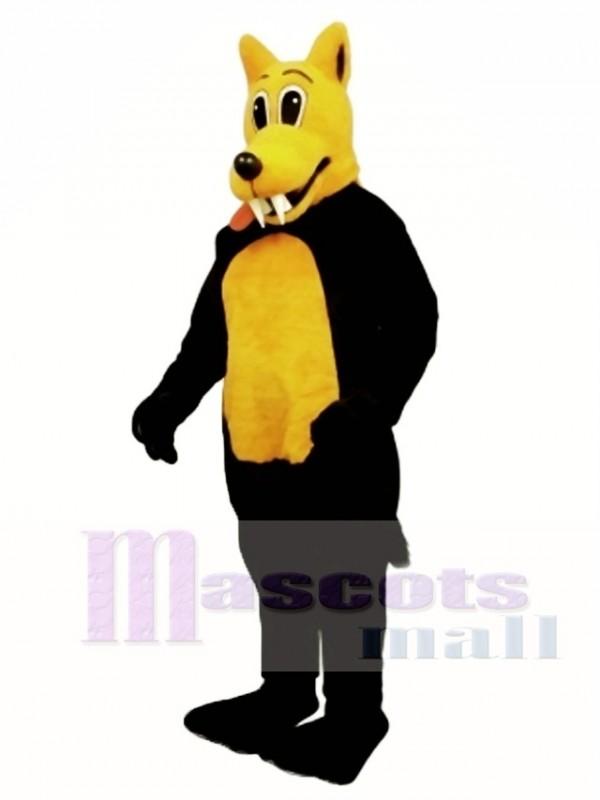 Cute Carl Coyote Wolf Mascot Costume