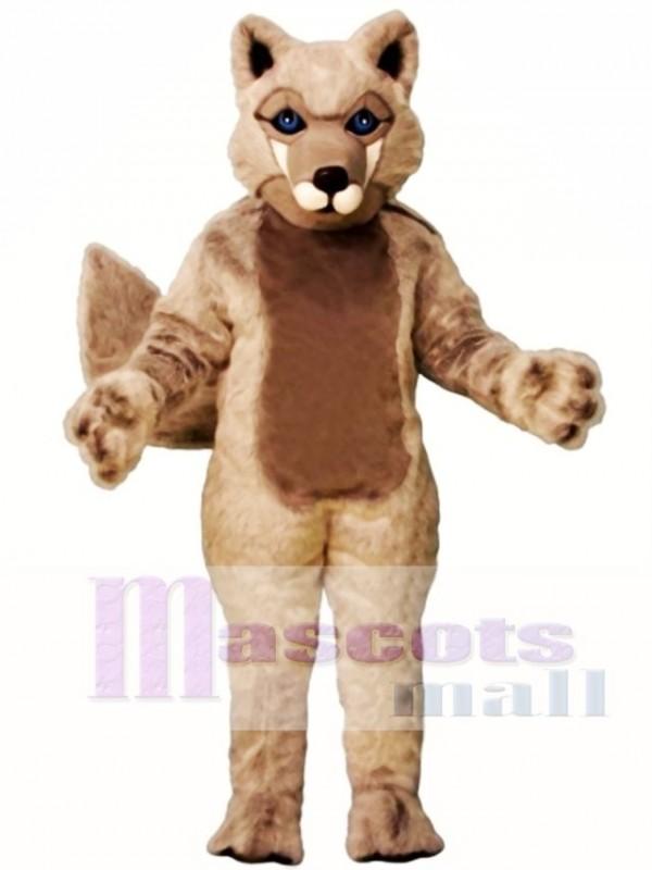 Cute Roger Wolf Mascot Costume