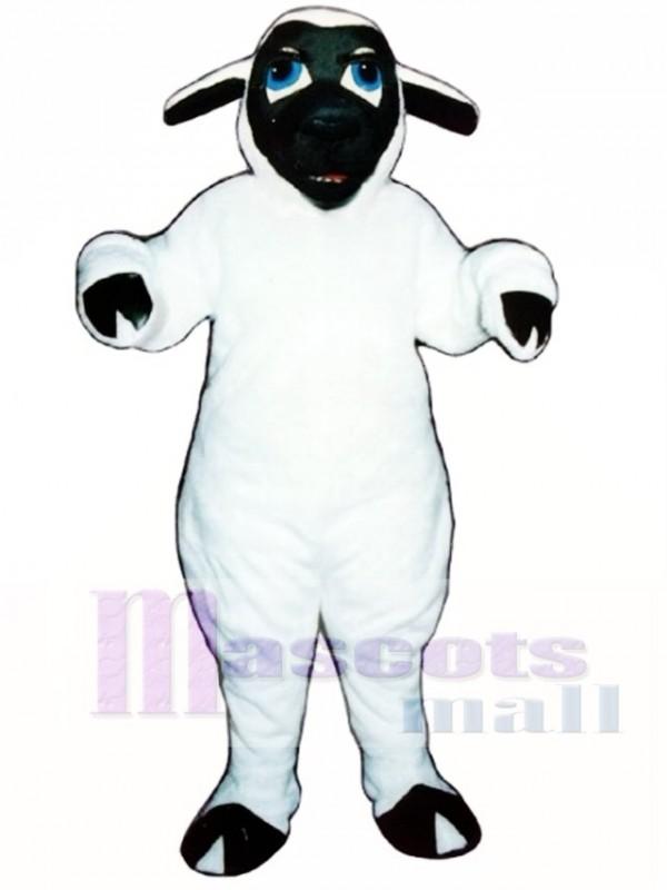 Black Face Sheep Mascot Costume
