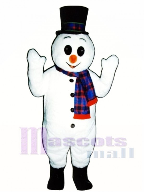 Extra Round Snowman with Hat & Scarf Christmas Mascot Costume