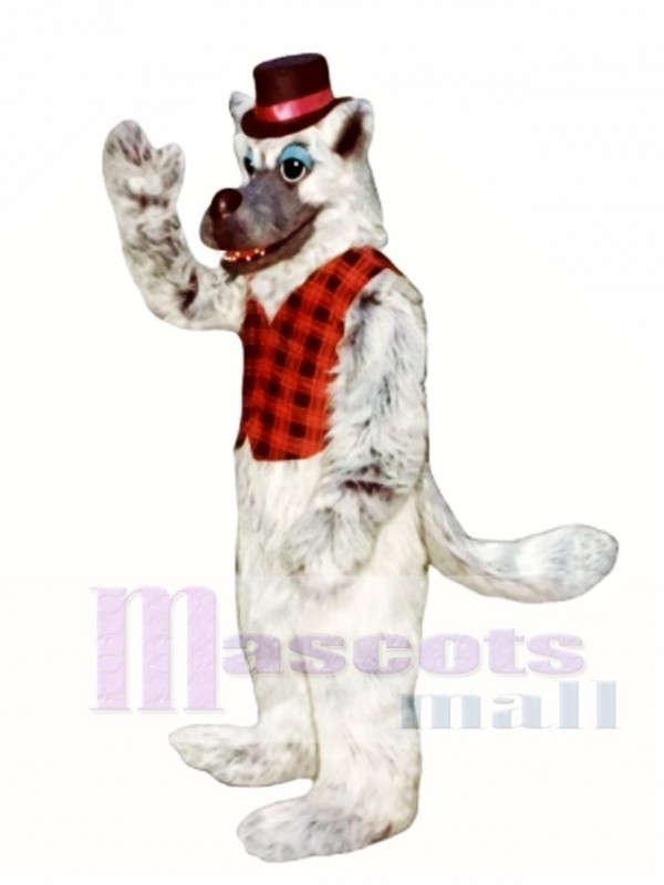 Bad Wolf with Hat & Vest Mascot Costume