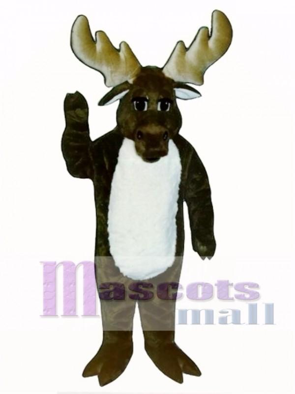 Cute Monty Moose Mascot Costume