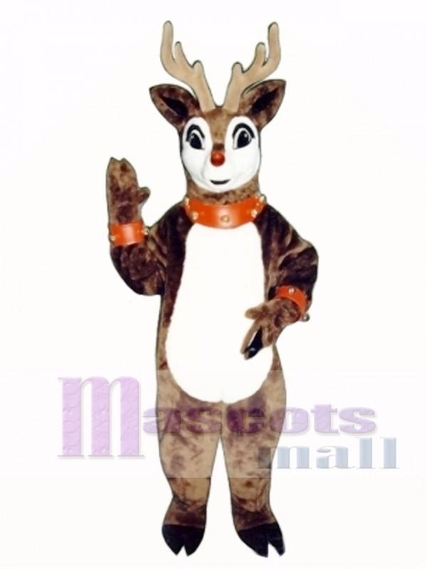 Blinker Deer with Lite-up Nose, Collar & Cuffs Christmas Mascot Costume