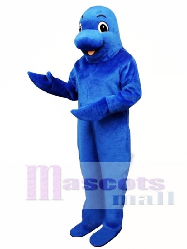 Cute Blue Fish Mascot Costume