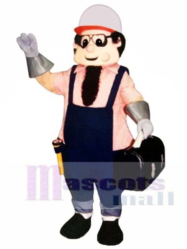 Working Man Mascot Costume